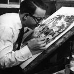 Leonard Weisgard at work