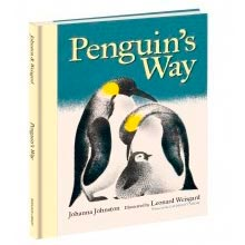 Penguin's Way written by Johanna Johnston with illustrations by Leonard Weisgard published by The Bodleian Library Oxford UK